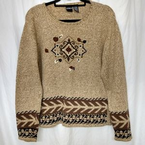 ERIKA Embroidered Aztec Design Sweater